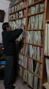 Freddy Donoso, en la discoteca con más de 25 mil ejemplares